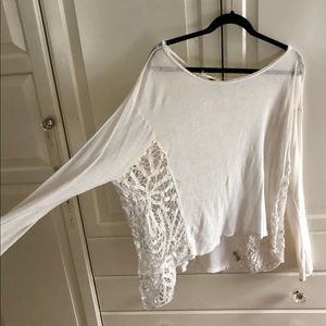 Free People lace panel long sleeve